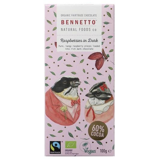 Bennetto Raspberries in Dark 100g