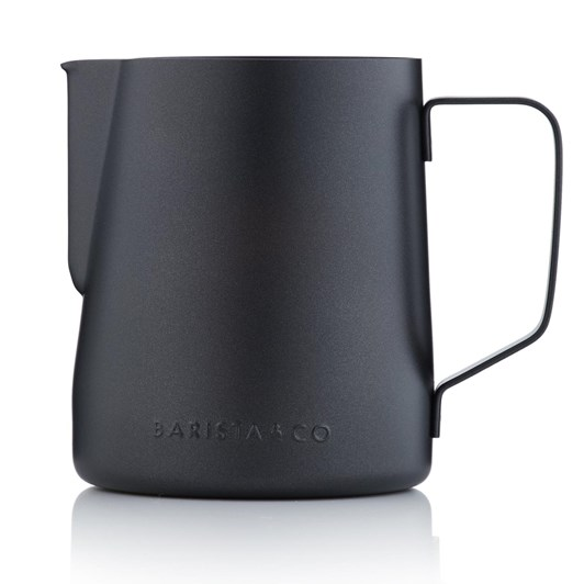 Barista & Co Core Milk Jug 600ml Black Nonstick