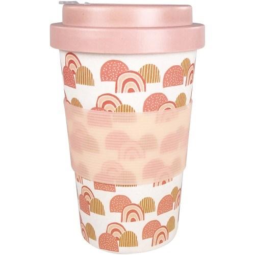 Rainbow Eco Mug White & Peach 400ml