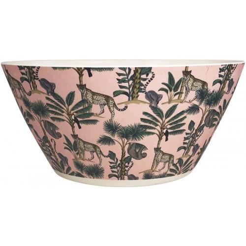 Wild Jungle Salad Bowl Pink Large 12cm