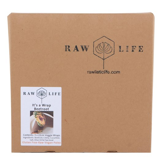 Raw Life Beetroot Raw Wraps 3 Pack