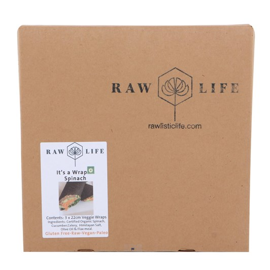 Raw Life Spinach Raw Wraps 3 Pack
