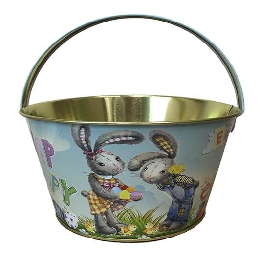 Craft Bunnies Metal Easter Basket With Handle 19x10cm