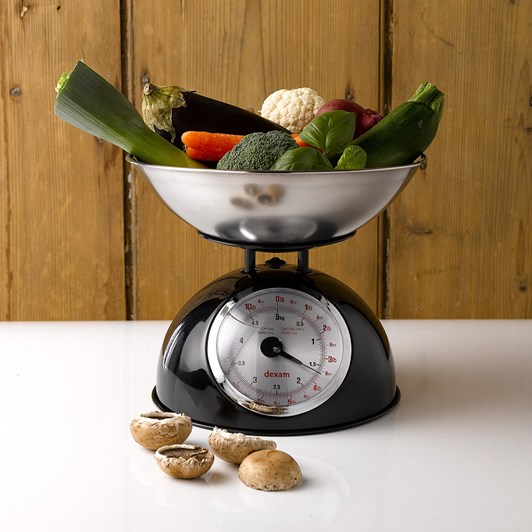 Dexam Retro Kitchen Scales Black