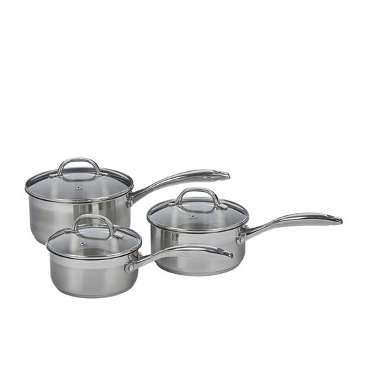 WMF Swiss Diamond Premium Steel 3 Piece Saucepan Set