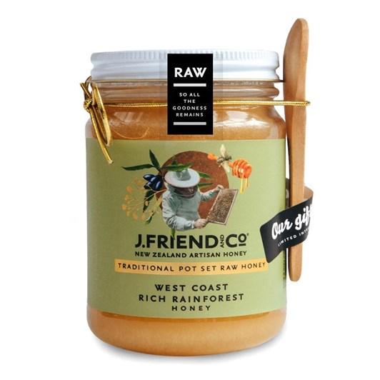 J Friend Raw Honey - West Coast Rich Rainforest