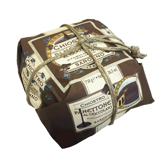 Lazzaroni Panettone Andina Chocolate Wrapped With Rope 750g