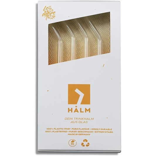Halm Bent Reusable Glass Straw