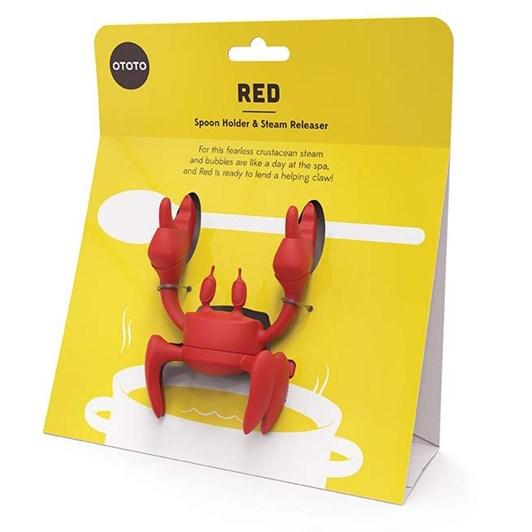 Ototo Red Spoon Holder & Steam Releaser