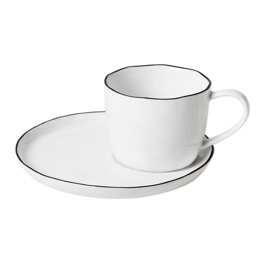 Broste Salt Cup & Saucer Small