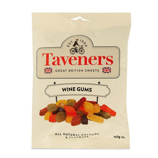 Taveners Great British Sweets Wine Gums 165gm