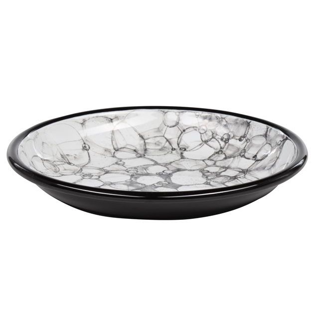 Elifle Bubble Plate 26 - white black