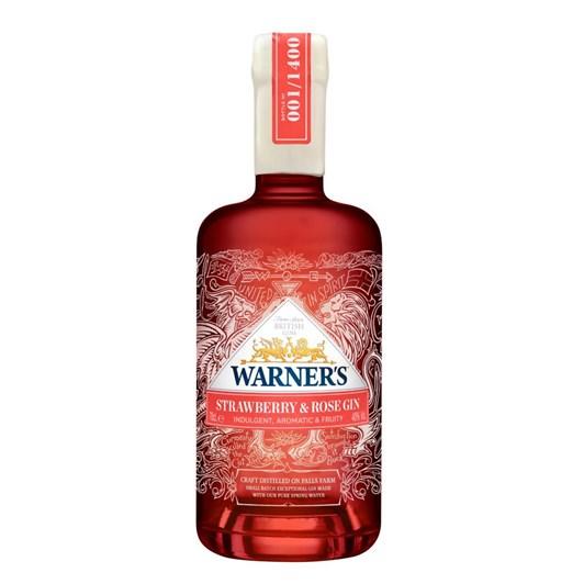 Warner's Strawberry & Rose Gin 40% 700ml