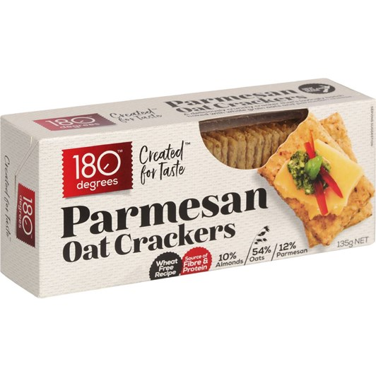 180 Degrees Parmesan Oat Crackers - 135gm
