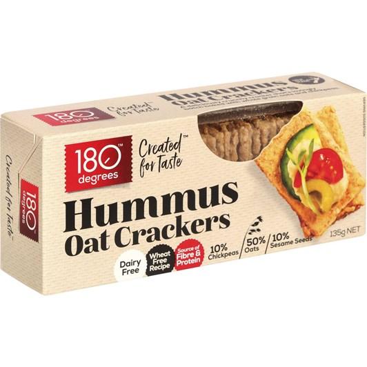 180 Degrees Hummus Oat Crackers - 135gm