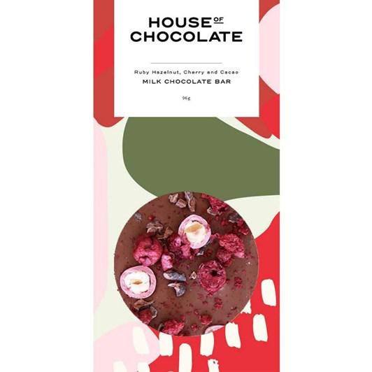 House Of Chocolate Ruby Hazelnut Cherry Cacao Bar