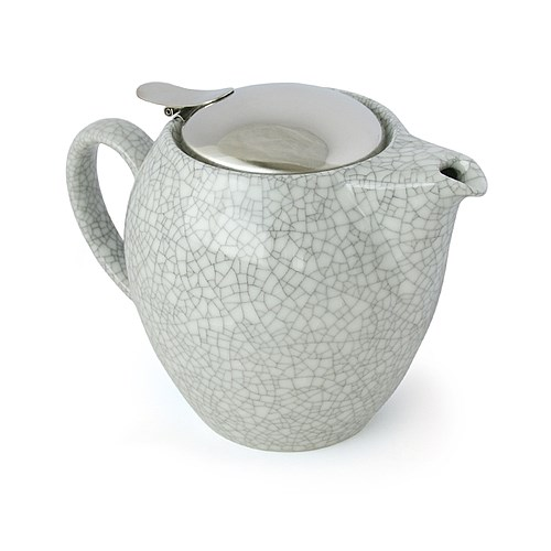 Zero Japan Crackle White Teapot 580ml