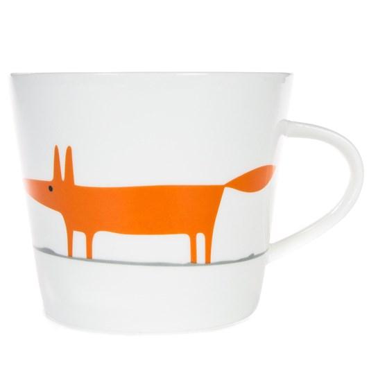 Mr Fox Mug White Orange