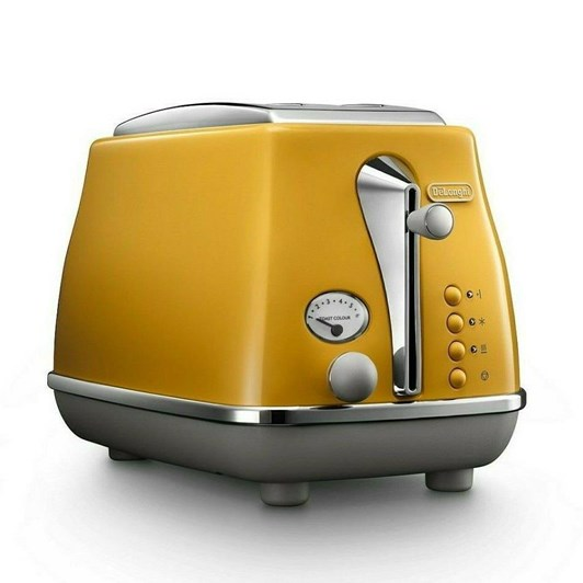 Delonghi Icona Capitals Two Slice Toaster - New York Yellow