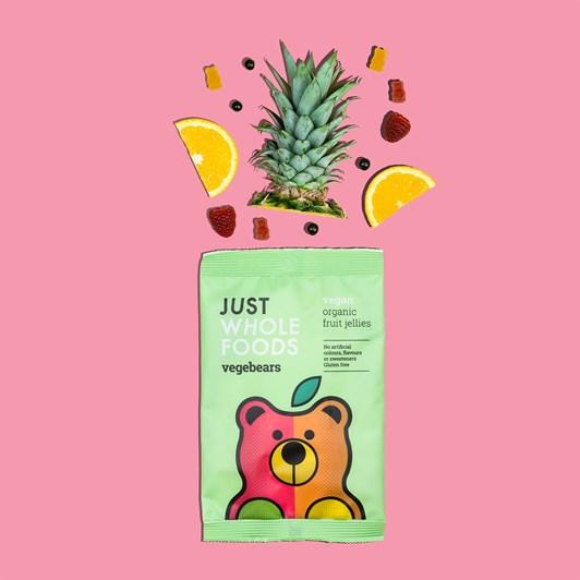 Just Wholefoods Vegebears Fruit Jellies 100G