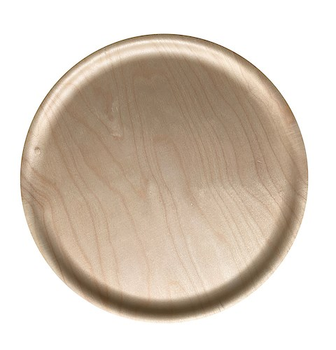 Atiya Round Wooden Tray Birch 45cm