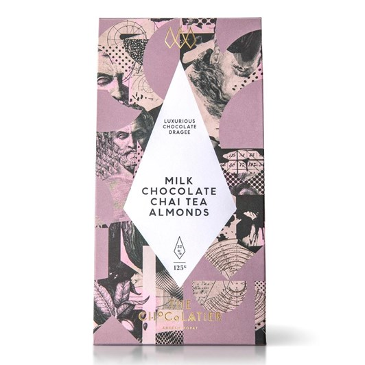 The Chocolatier Milk Chocolate Chai Tea Almonds 125G