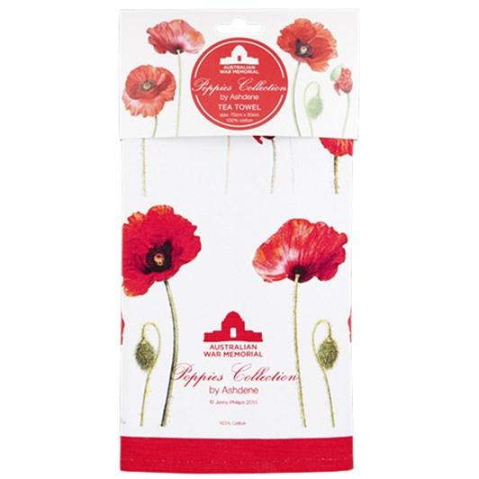 Ashdene Poppies AWM Kitchen Towel