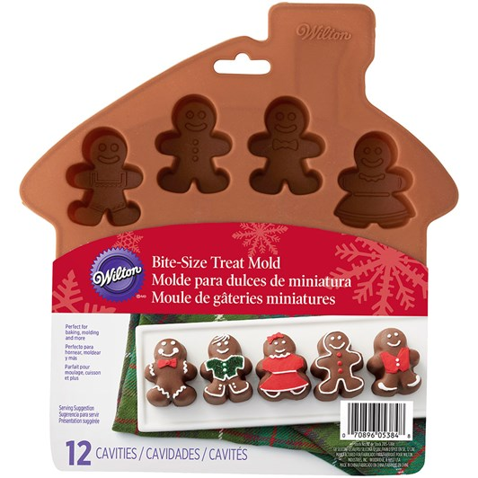 Wilton 12 Cavity Silicone Gingerbread Mould