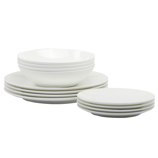 Maxwell & Williams Cashmere Resort Coupe Dinner Set - 12pc