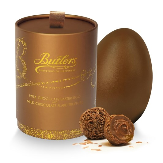 Butlers Gold Keepsake Box Milk Egg With Chocolate Flake