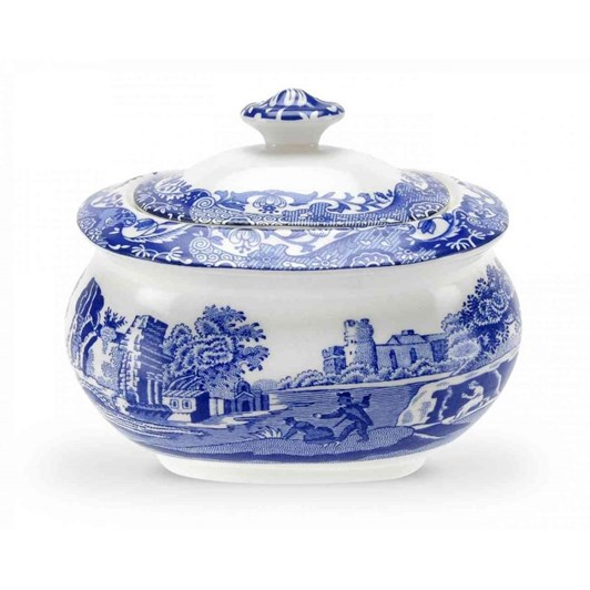 Spode Blue Italian Sugar Box 0.25L