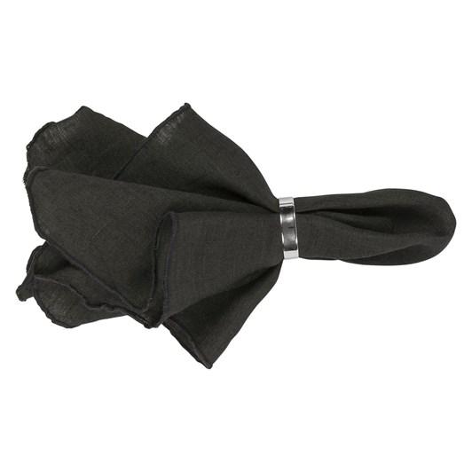 Broste Napkin Gracie Eco Linen Black