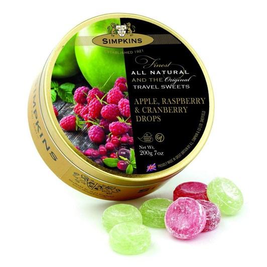 Simpkins Sweets Apple, Raspberry & Cranberry Travel 200g