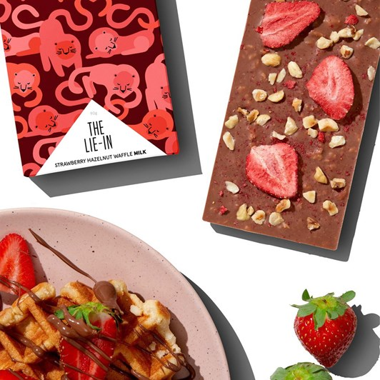 Hey Tiger The Lie-In 90G Strawberry Hazelnut Waffle Milk 35%