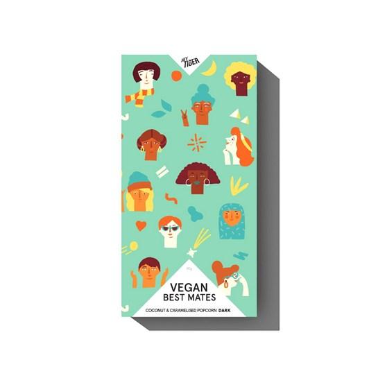 Hey Tiger Vegan Best Mates 85G Coconut & Caramelised Popcorn Vegan Dark 62%