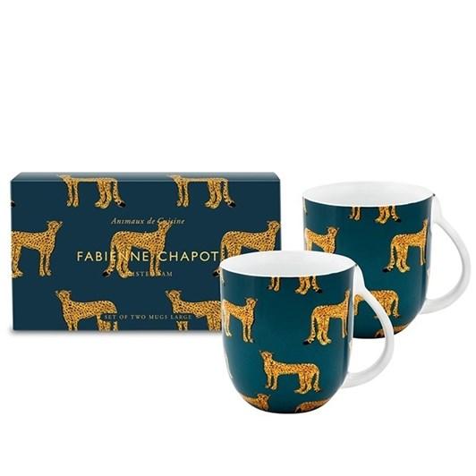 Fabienne Chapot Large Cheetah Mugs Set Of 2