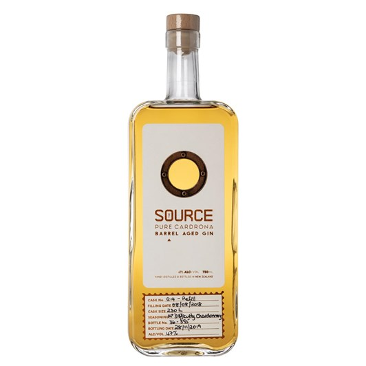 The Source Barrel Aged Mt Difficulty Chardonnay Gin 750ml