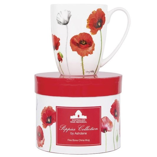 Ashdene Poppies AWM Coupe Mug