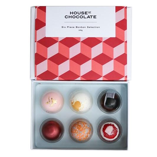 House of Chocolate 6 Piece Bonbon Selection