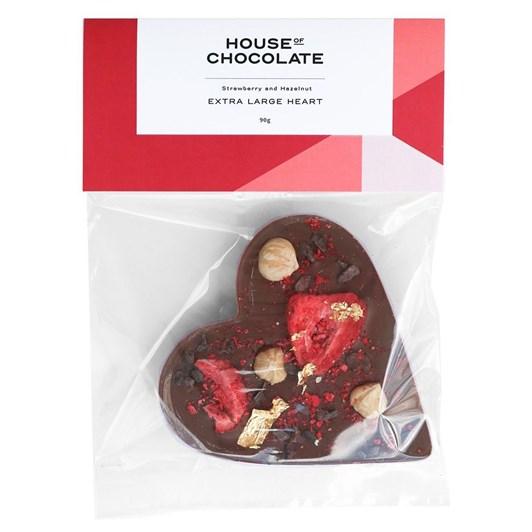 House of Chocolate Strawberry Hazelnut Heart