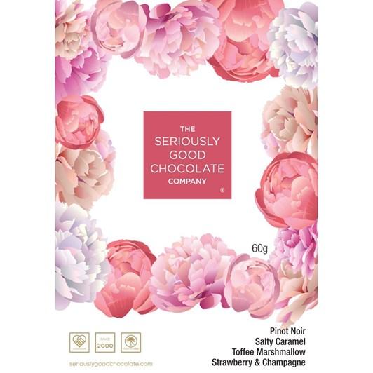 Seriously Good Chocolate Peonies Chocolates Box Of 4