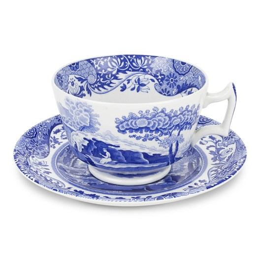 Spode Blue Italian Breakfast Cup And Saucer 0.28L