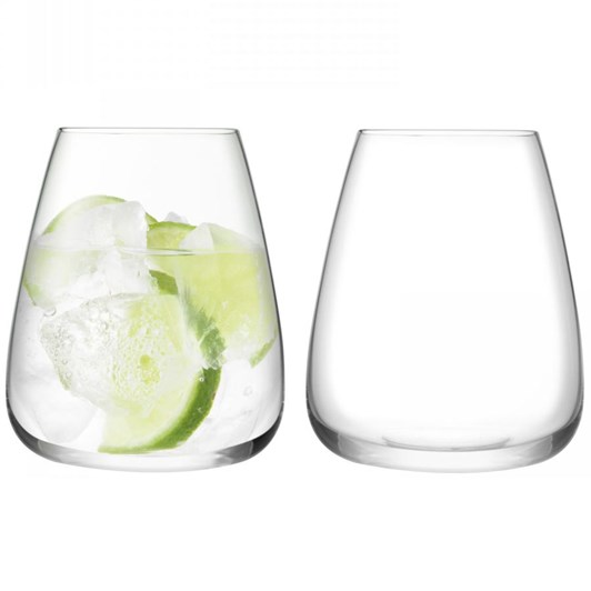 LSA Wine Culture Stemless Water Glass x 2 590ml