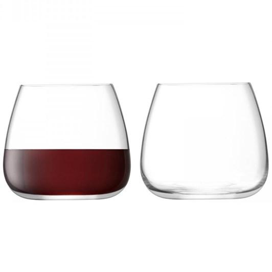 LSA Wine Culture Stemless Wine Glass x 2 385ml