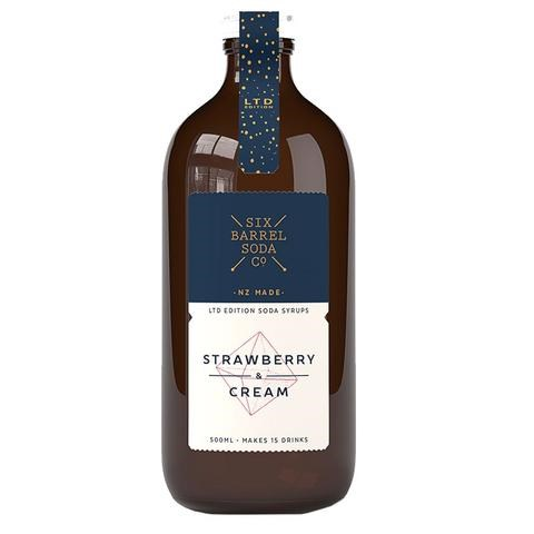 Six Barrel Soda Strawberry & Cream Limited Edition 500ml