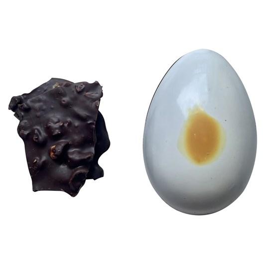 Honest Chocolat Fantail Dark Chocolate Medium Egg With Hazelnut And Orange