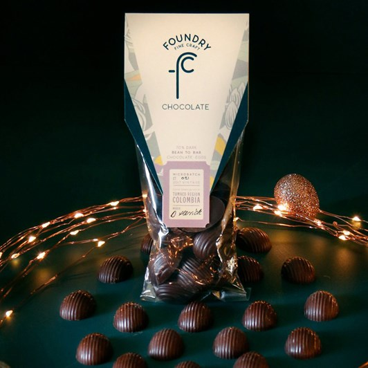 Foundry Chocolate Colombia Mini Solid Eggs 70g