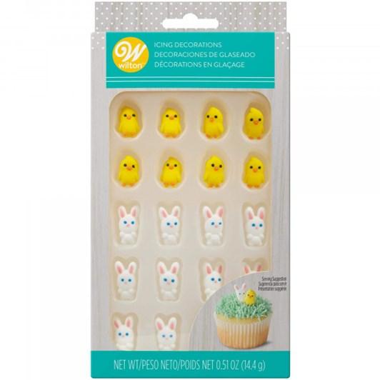 Wilton Mini Chicks And Bunnies Royal Icing