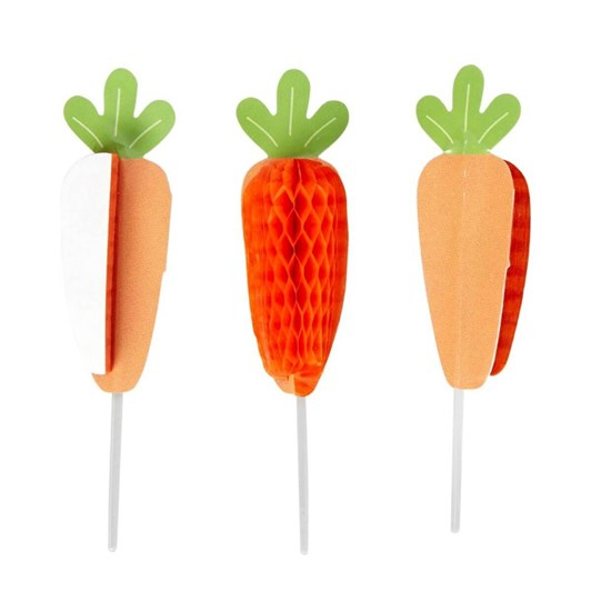 Wilton Honeycomb Pick Carrot 12 Count