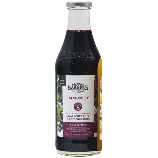 Barkers Immunity Blackcurrant & Boysenberry Syrup 710ml
